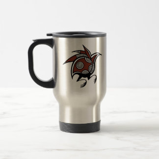 Cyprus Bird Motif Tumbler Stainless Steel Travel Mug