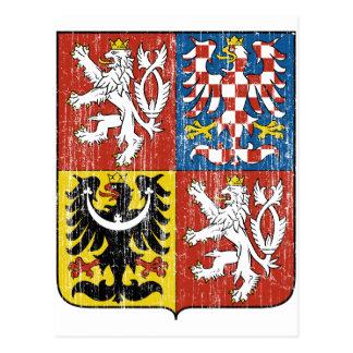 Czech Coat Of Arms Postcard
