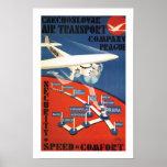 Czechoslovak Air Transport Poster