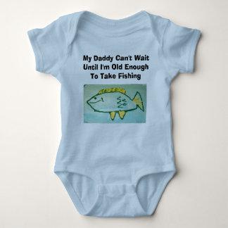 Daddy Can't Wait---Fishing T-shirt