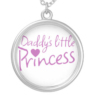 Daddys little princess round pendant necklace
