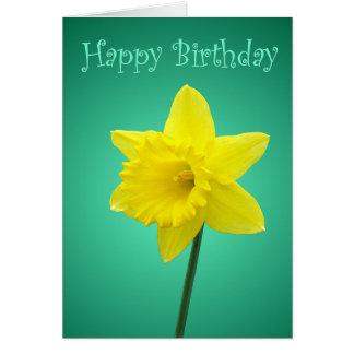 Daffodil Birthday Card - II