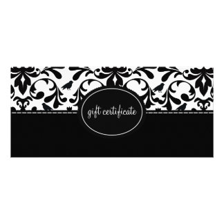 Damask Birds Boutique Style Gift Certificates Full Colour Rack Card