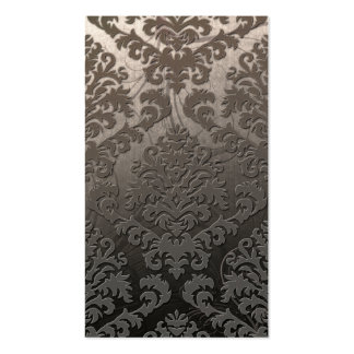 Damask Cut Velvet, Swank Swirls in Taupe Pack Of Standard Business Cards
