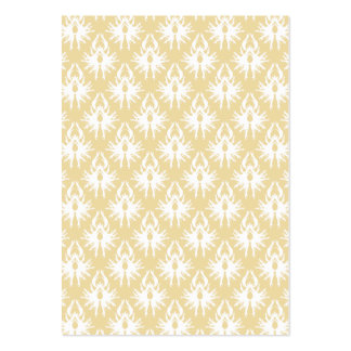 Damask Design. White and gold color. Pack Of Chubby Business Cards