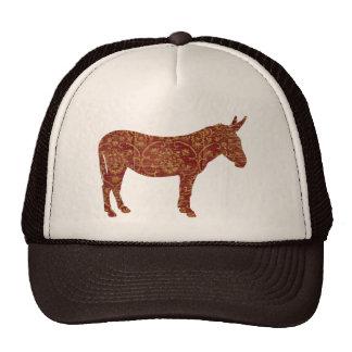 Damask Donkey Silhouette Lid Cap