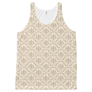 Damask pattern 3 All-Over print tank top