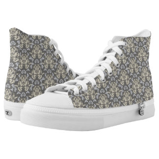 Damask pattern printed shoes