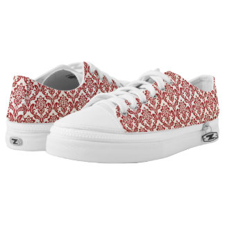 Damask pattern wallpaper printed shoes