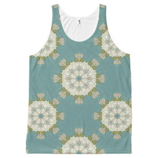 Damask pattern with abstract elements All-Over print tank top