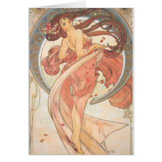 Dance by Mucha Greeting Card
