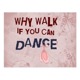 Dance don´t  Walk Postcard