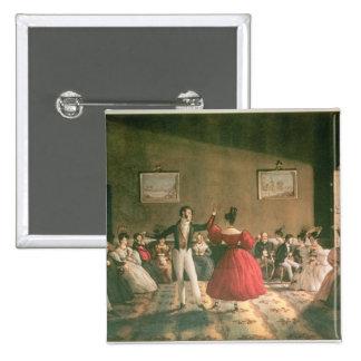 Dance in a Salon in Buenos Aires, c.1831 (w/c on p 15 Cm Square Badge