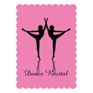 Dance recital invitation custom color