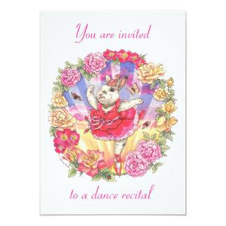 dance recital invitation - rose