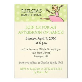 Dance Recital Invitations