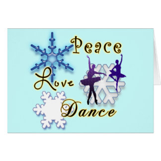 Dance TeacherBallerina Non -Denominational Holiday Greeting Card