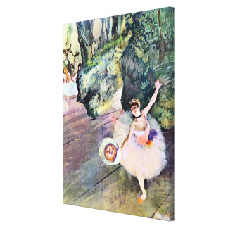 Dancer with a Bouquet of Flowers by Edgar Degas Stretched Canvas Prints