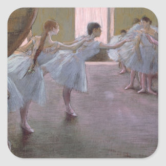 Dancers at Rehearsal, , 1875-1877 Square Sticker