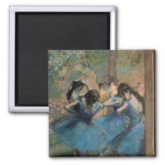 Dancers in blue, 1890 square magnet