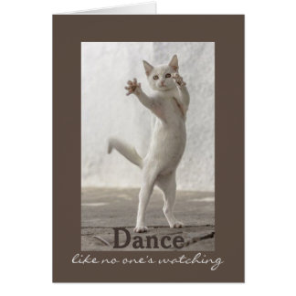 Dancing Cat Birthday Card