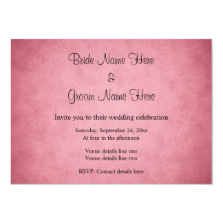 Dark Dusky Pink Mottled Pattern Wedding 11 Cm X 16 Cm Invitation Card