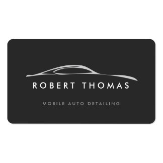 Dark Gray Auto Detailing, Auto Repair Pack Of Standard Business Cards