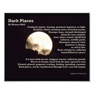 Dark Places – A Poem Art Photo