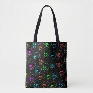 Day Glow Skulls Tote Bag