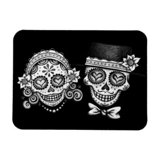 Day of the Dead Couple Premium Magnet