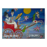Day of the Dead Save the Date Wedding Notecard Note Card
