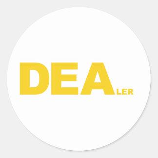 DEA... LER ROUND STICKER