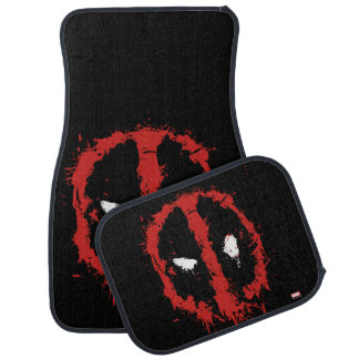 Deadpool Paint Splatter Logo Floor Mat