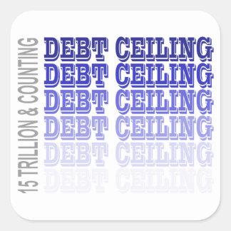 Debt Ceiling Merchandise Square Sticker