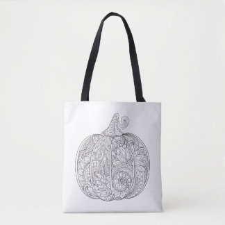 Decorative Pumpkin Doodle 2 Tote Bag