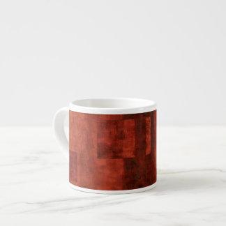 Deep Crimson Painting with Geometric Shapes Espresso Mug