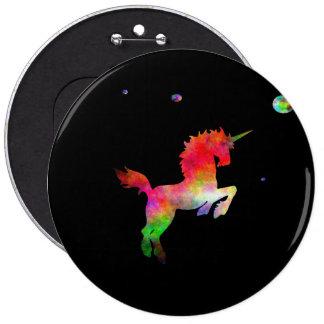 Deep Space Multi-hued Unicorn 6 Cm Round Badge
