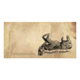 Deerhound attitude customised photo card