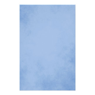 Delightful Blue Parchment Personalized Stationery