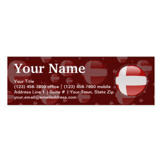 Denmark Bubble Flag Pack Of Skinny Business Cards
