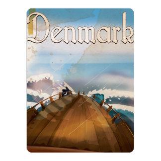 Denmark Vintage Travel Poster 17 Cm X 22 Cm Invitation Card