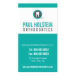 DENTIST APPOINTMENT CARD :: modern tooth logo 2 Pack Of Standard Business Cards
