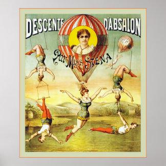 Descente d'Absalon ~ Vintage Circus Poster