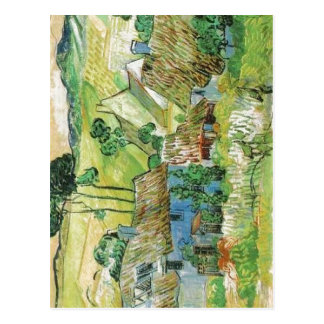 Description Van Gogh painting Thatched Cottages by Postcard
