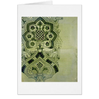 Design for an Ecclesiastical wallpaper print (ink Greeting Card