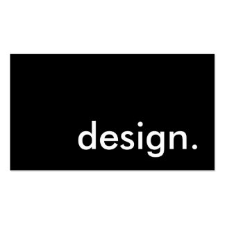 design. pack of standard business cards