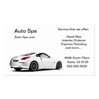Detailing Shop Pack Of Standard Business Cards