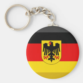 Deutschland Flag Gem Basic Round Button Key Ring