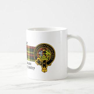 Dewar Scottish crest and Tartan mug
