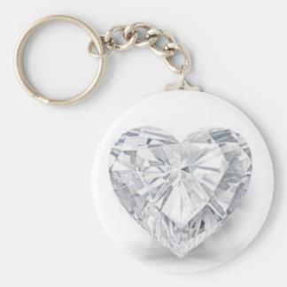 Diamond = Love Basic Round Button Key Ring